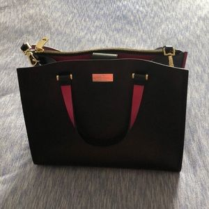 Kate Spade ♠️ Black and Hot Pink